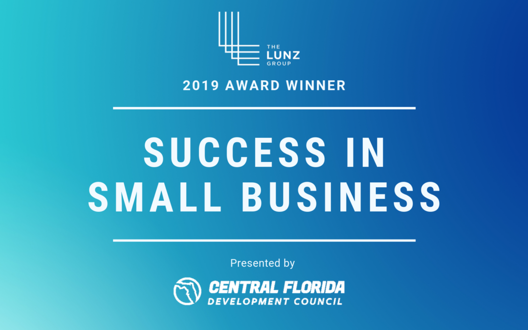 The Lunz Group awarded Success in Small Business